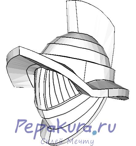 Сделать шлем Гладиатора из бумаги
