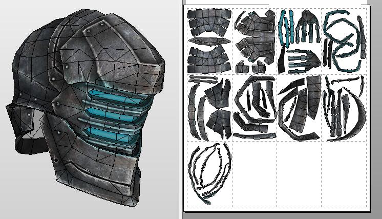 Ser Isaac helmet papercraft