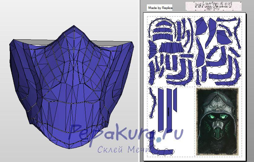 Соловьиная маска пдо развертка скачать - Celes mask papercraft