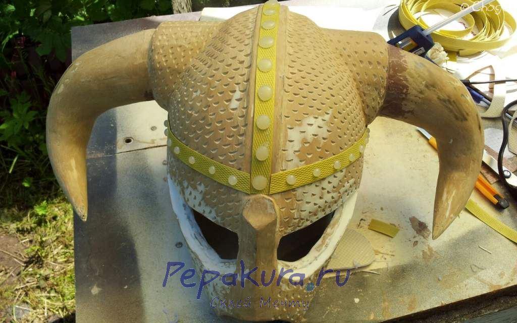 Заклепки на шлем Довакина из термоклея