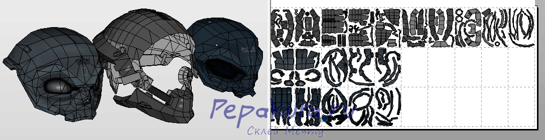 Blacklight Retribution helmet pdo template