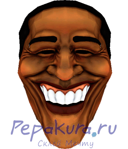 Маска Обамы из бумаги