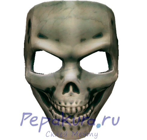 Skull mask download template pdo