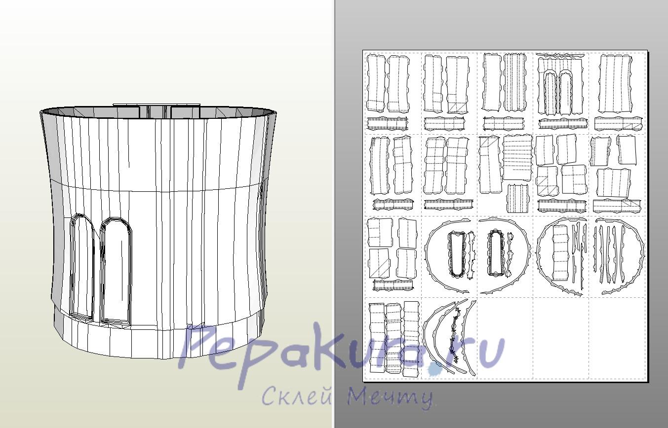 Как склеить бумажную модель с нуля Pepakura 2