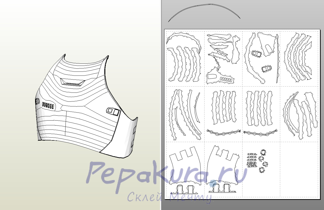Как склеить бумажную модель с нуля Pepakura 5