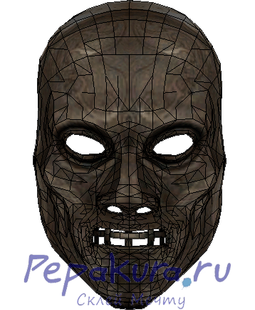 Death Eater mask template papercraft
