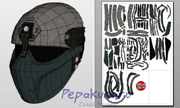 Alpha Force mask pdo papercraft