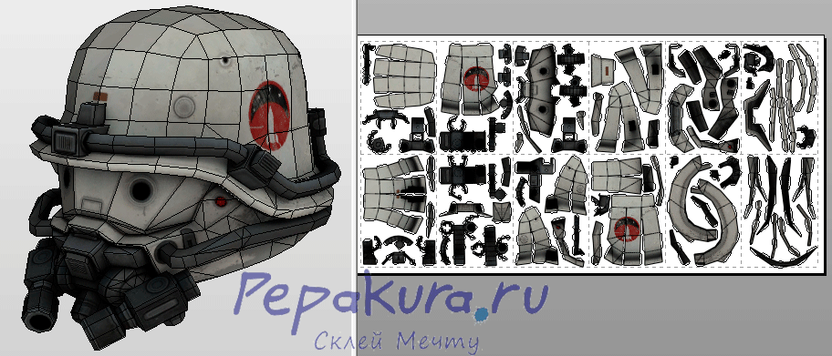 Space Marine Wolfenstein pdo papercraft