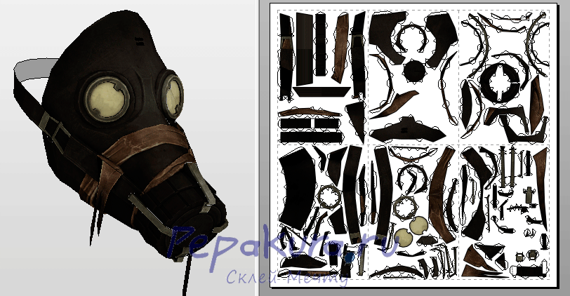 Assassin Mask Dishonored template papercraft