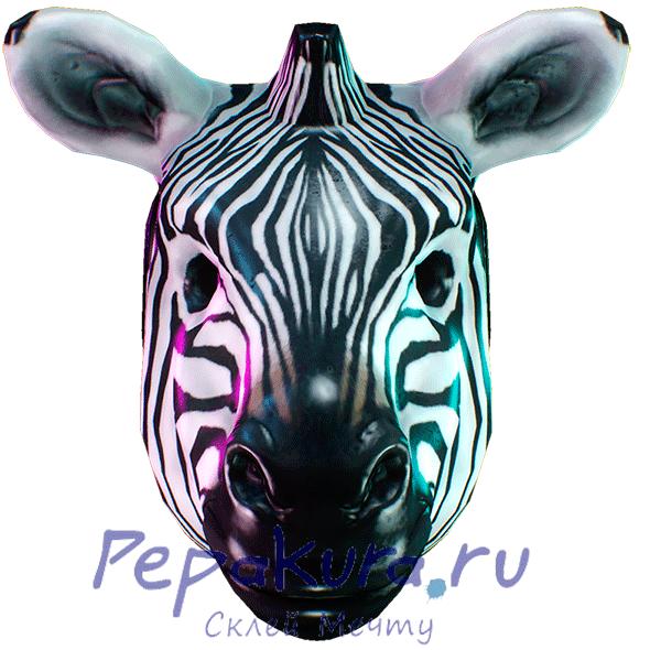 Развертка маски зебры своими руками
