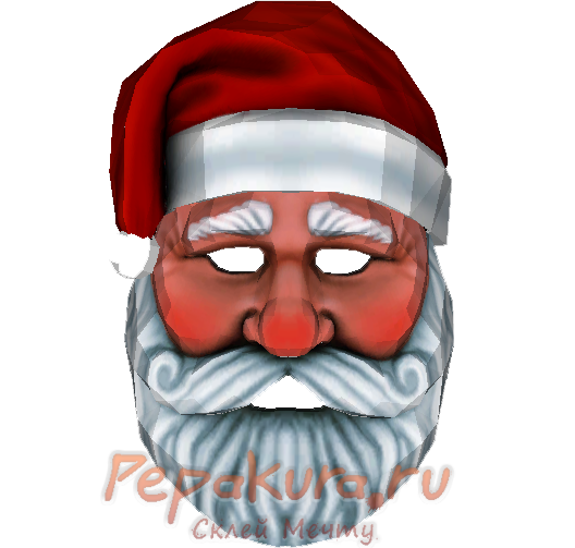 Santa mask download template