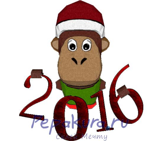 Сделать обезьяну из бумаги