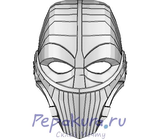 Скачать развертку маски Commander Triens