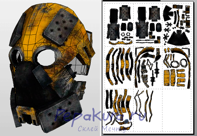 Zaeed Massani mask papercraft