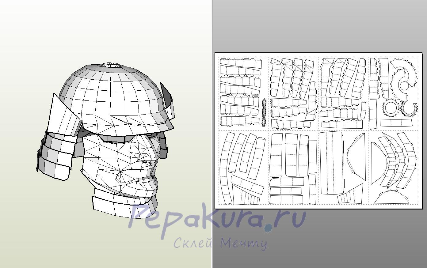 Как склеить бумажную модель с нуля Pepakura 1