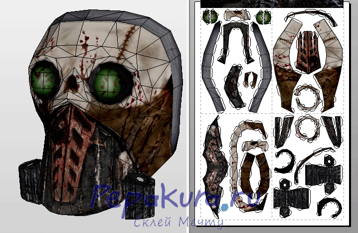 Borderlands Steve mask template