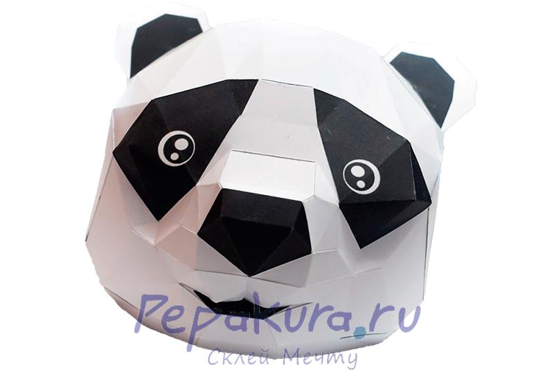Сделать маску Панды из бумаги