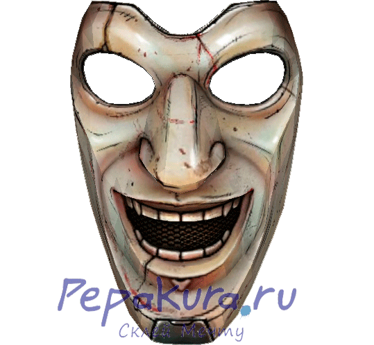 Скачать развертку маски Лицо Тролля
