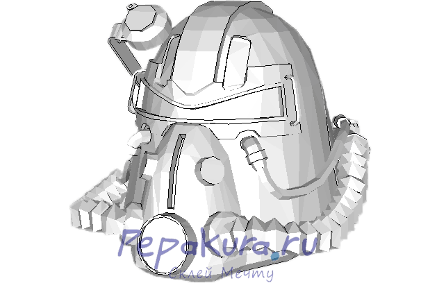 T-51b helmet papercraft template
