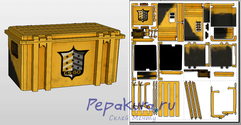 Case CS-GO papercraft template