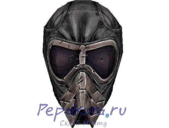 Sandblaster helmet papercraft borderlands