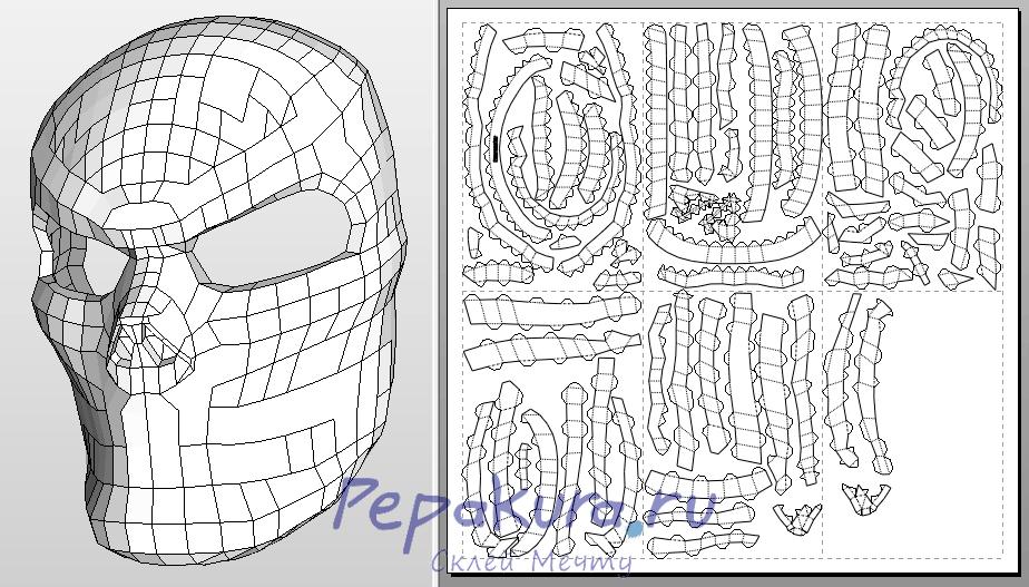 Skull mask DIY papercraft