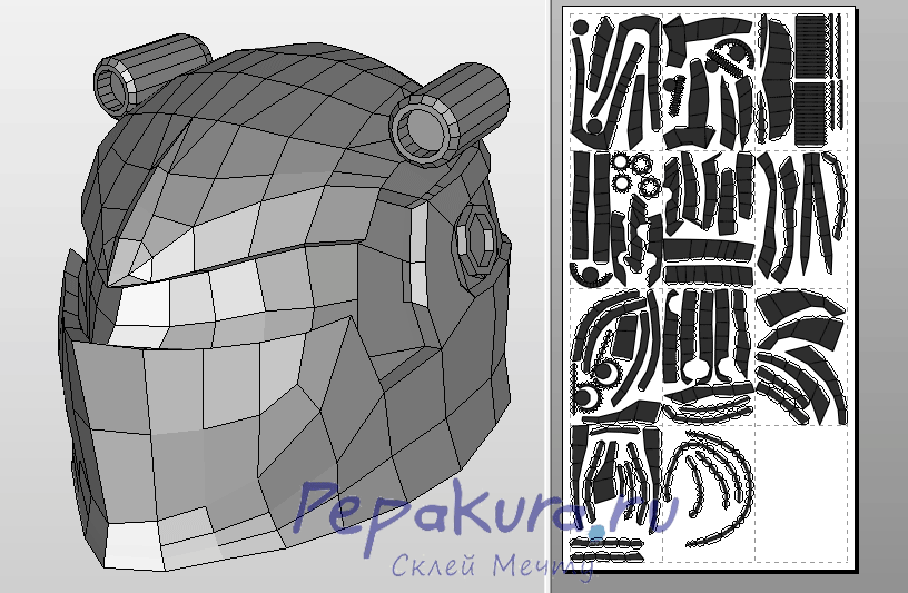 TMNT Nightwatcher helmet template