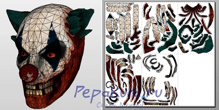 Firestarter Mask pdo papercraft