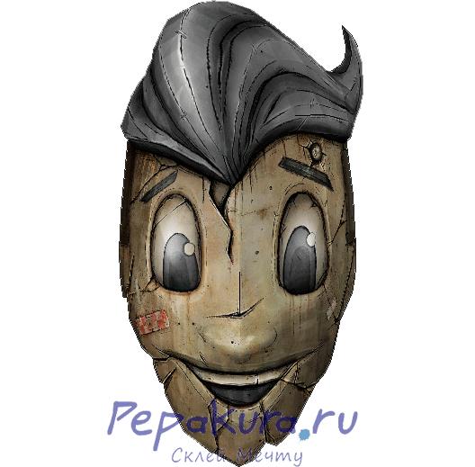 Krieg mask KhA-KhA-KhA-KhA-KhA papercraft