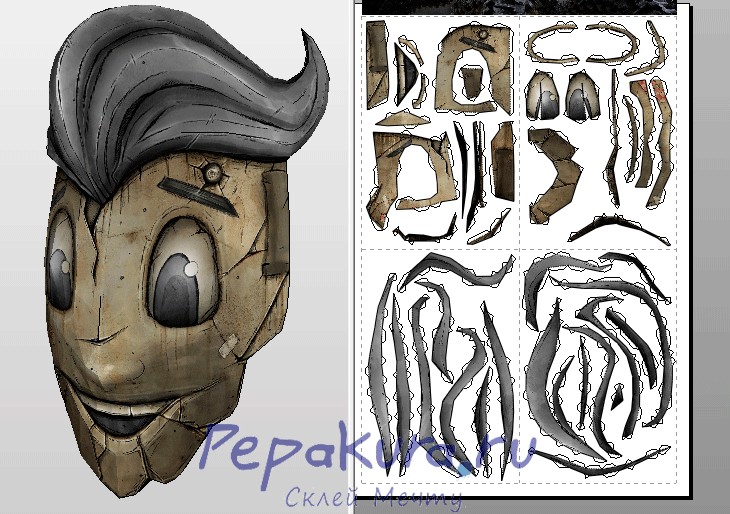 Схема маски Крига Ха-Ха-Ха