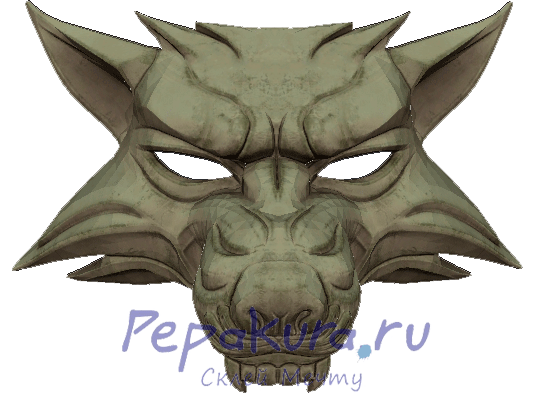 Схема маски волка из бумаги своими руками