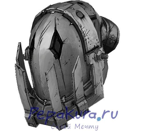 Скачать схему шлема из Borderlands 2
