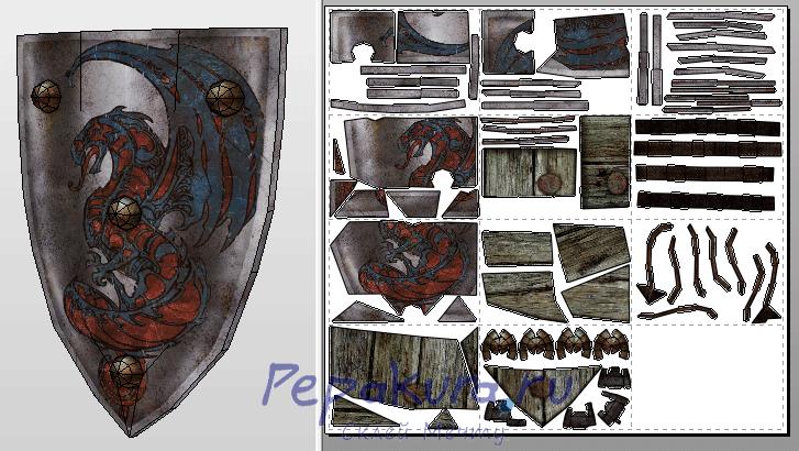 Stone-Helm Guard Shield papercraft