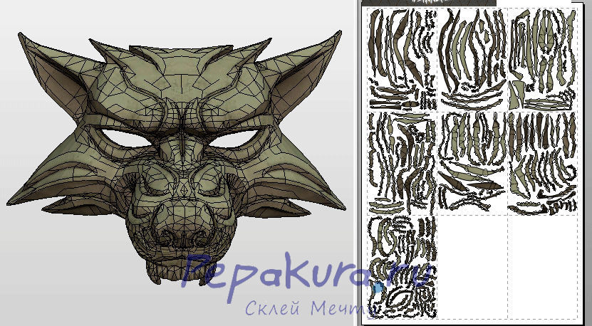 wolf mask template papercraft