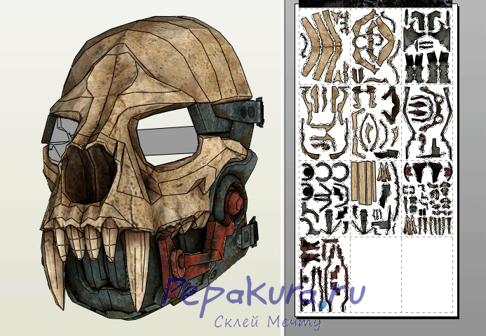Keeper's mask papercraft pdo