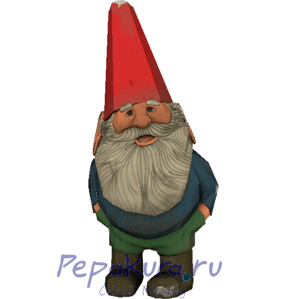 Garden Gnome pdo papercraft