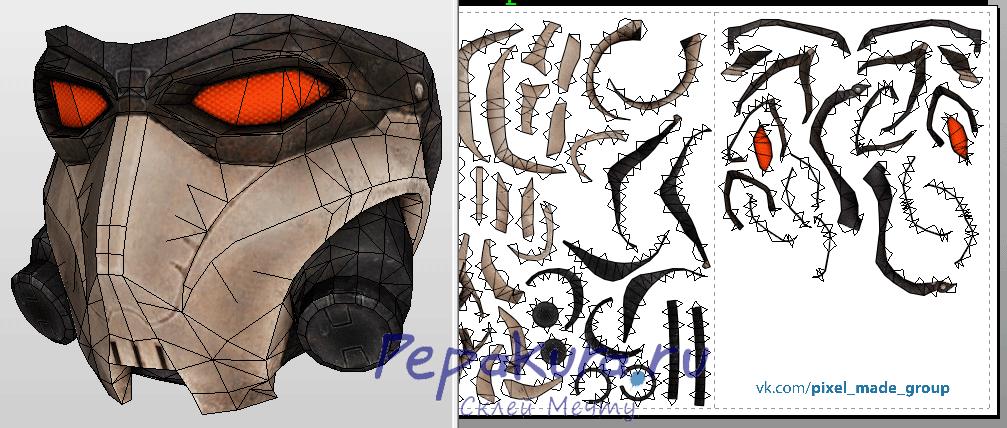 Crosskiller mask pdo papercraft