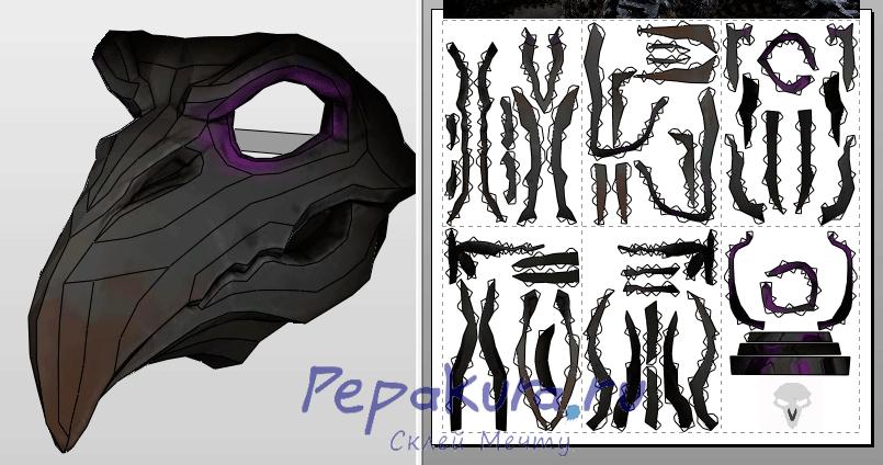 Nevermore mask papercraft Overwatch