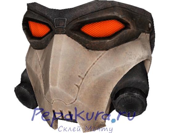 Развертка-маски-Кросса-из-бумаги
