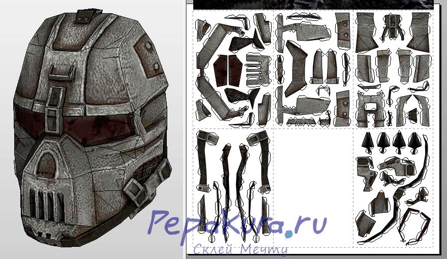 Renaissance Army mask Survarium pdo papercraft