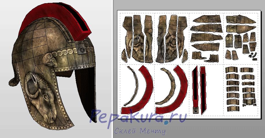 Illyrian Helmet pdo papercraft template