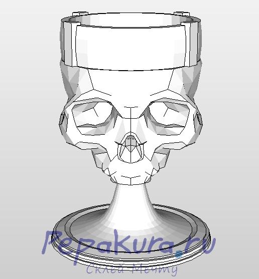 Кубок-череп-Верховного-повелителя-Вольнира из бумаги сделать
