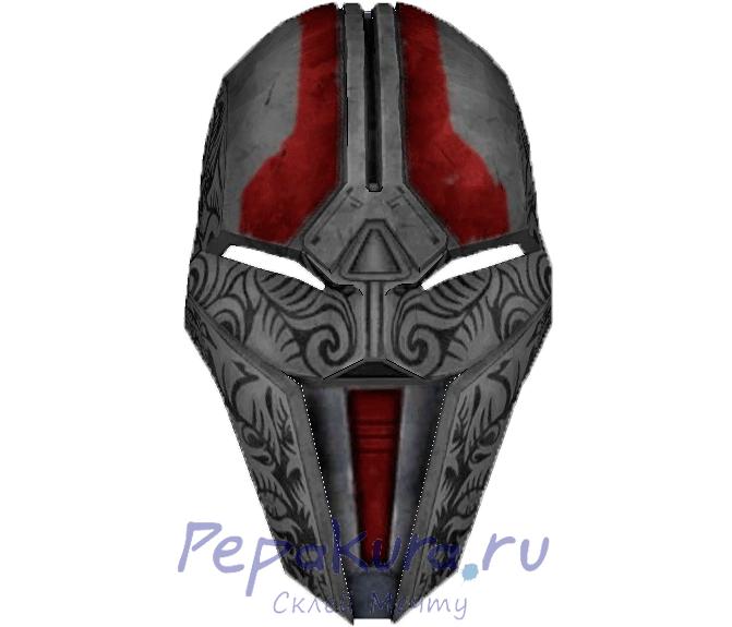 Схема маски Ситха из бумаги пдо