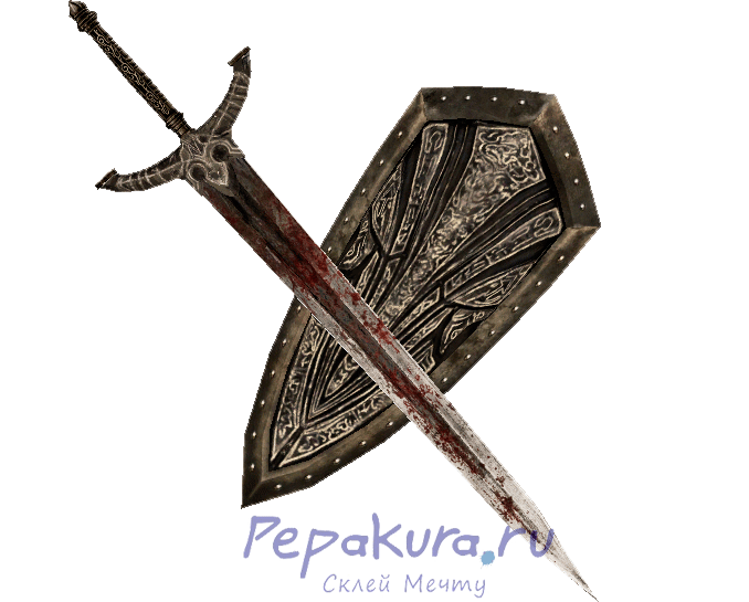 Black Knight Sword Shield pdo papercraft