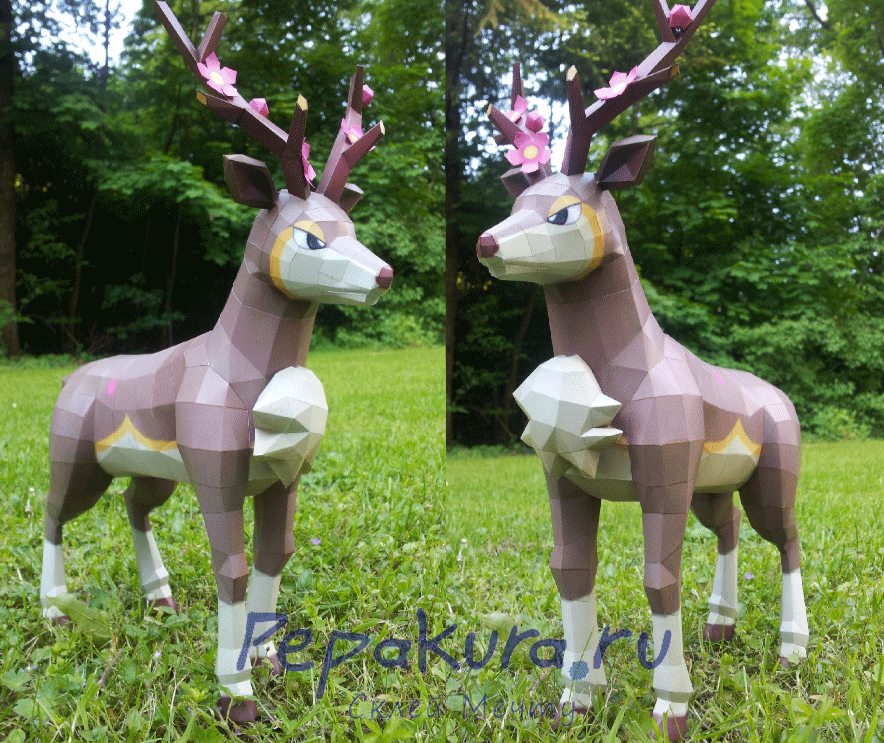 Deer template papercraft diy