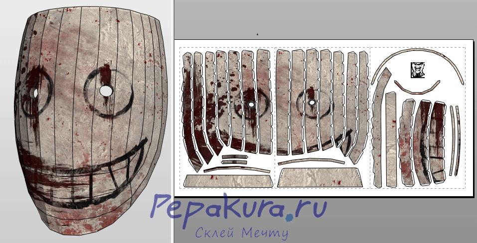 Legion Mask papercraft template