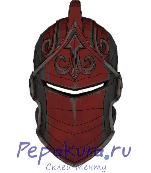 Шлем Красного Рыцаря из бумаги