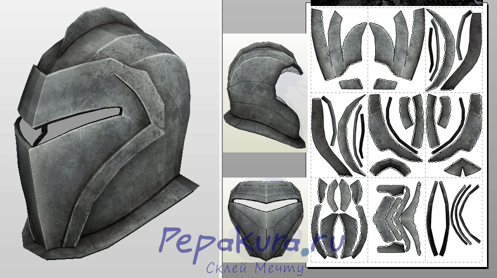 Grey Warden Helmet papercraft